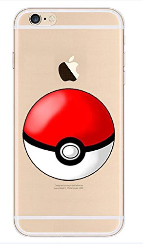 Pokemon GO Pikachu Charizard Blastoise Squirtle - Carcasa transparente para iPhone 5/5S/5SE, diseño de bola Poké