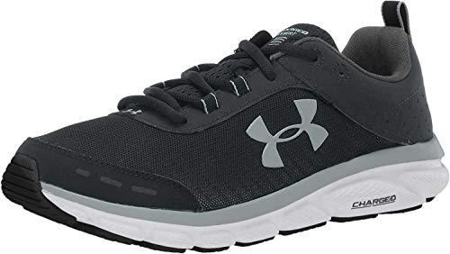 Under Armour Women's Charged Assert 8 Running Shoe, Pitch Gray (100)/White, 6.5