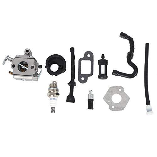 Carburador de Motosierra, Accesorios Hardware, Aluminio Ligero para Stihl MS170/MS180, Piezas Repuesto para Motosierra, Ajuste del Kit Carburador, con Herramienta Ajuste del Filtro Comb