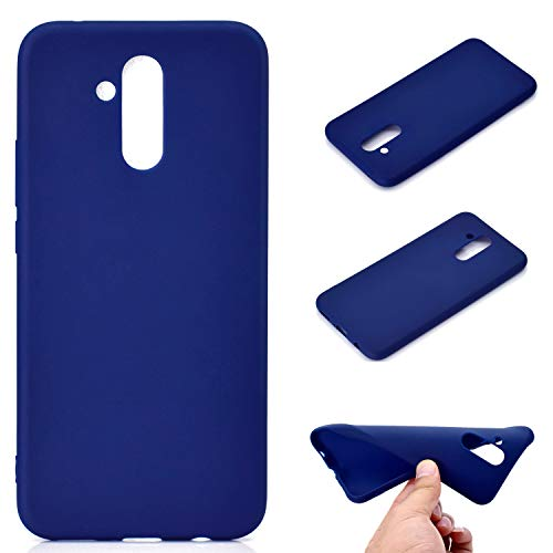 OUJD Funda Huawei Mate 20 Lite, Carcasa Huawei Mate 20 Lite Silicona Gel, Mate Case Ultra Delgado TPU Goma Flexible Cover para Huawei Mate 20 Lite - Azul