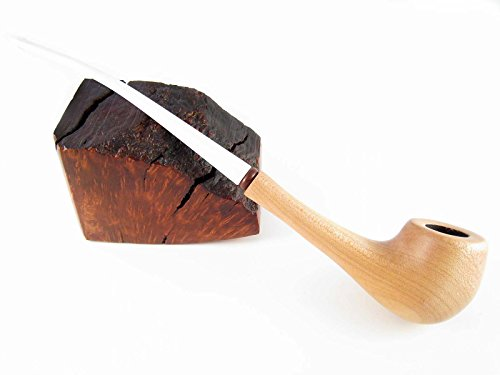 Pear Wood Churchwarden Handcrafted Tobacco Smoking Pipe Long Lady Pipe FASHION LIGHT WHITE STEM