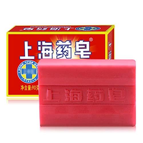 5pcs Shanghai zwavel zeep olie-control acne behandeling Comedondrukker zeep Bleken reinigingsmiddel Chinese traditionele Huidverzorging
