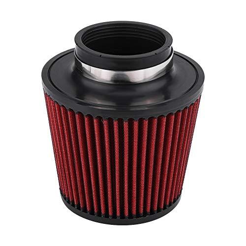 Rumors Luftfilter High Flow Auto-Änderung Inlet Air Intake Runde Kegel Luftfilter (Color : Red2)