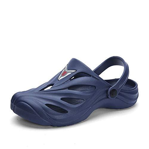 Été Nouveau Sandales Hommes d'extérieur Baotou Plage Trou Chaussures Tout-Match Sandales et Pantoufles Chaussures for Homme Mode Casual Pantoufles à Bout Ouvert pour Homme (Color : Blue, Size : 42)