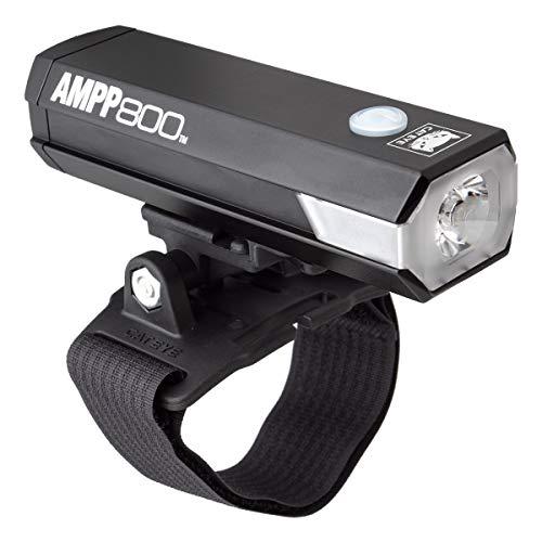 CAT EYE - AMPP800 USB Rechargeable Bike Headlight with Helmet Mount.