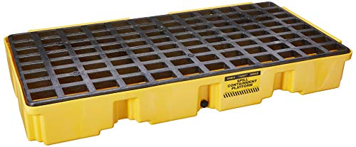 Eagle 1632D Yellow 2 Drum Modular Platform with Drain,Yellow/Black