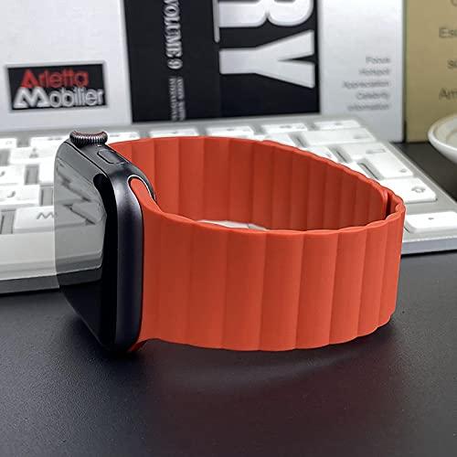 DKNS Adecuado para Apple Watch Iwatch Smart Watch Band, Magnetic Apple Watch 6 / Se / 5/4 / 3 Generación Deportes Transpirable Y Pulseras para Niñas 38mm 40mm 42mm 44mm 07(Size:40mm,Color:Rojo)