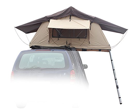 "Rooftop Tent (RTT), 48"" x 84"" x 50"", Fits 2 People, for Truck/SUV/Car/Etc. - Tan"