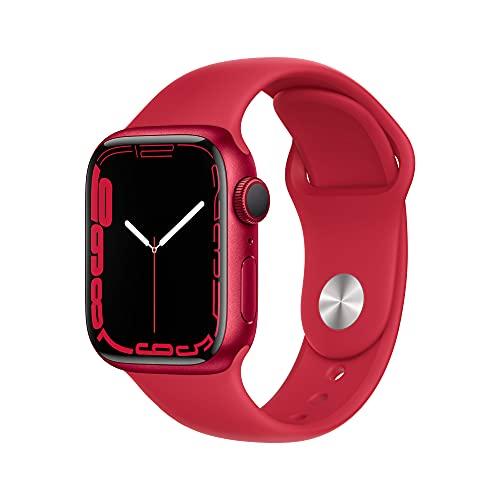 Apple Watch Series 7 41mm Aluminium Sport Band Red