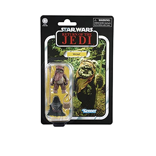 Star Wars The Vintage Collection Wicket Toy, 9,5 cm Scale Star Wars: Return of The Jedi Actionfigur, Spielzeug für Kinder ab 4 Jahren