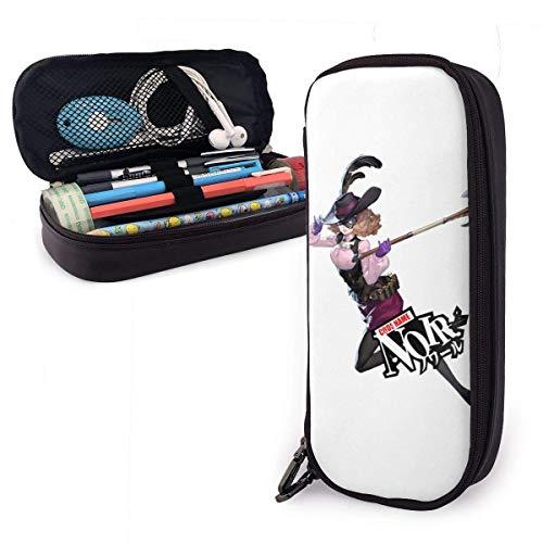 Estuche de lápices de gran capacidad Bolígrafo de gran capacidad Estuche de lápices Organizador de papelería Práctico portabolsa con cremallera - Persona 5 Noir Haru Okumura