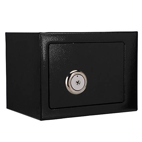 –Caja fuerte pared acero color negro para Stocker de la plata, Joyas, objetos de valor 23x 17x 17.3cm