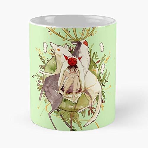 Nature Princess Spirit War Ghibli Mononoke Forest Miyazaki Best Taza de café de cerámica de 11 onzas