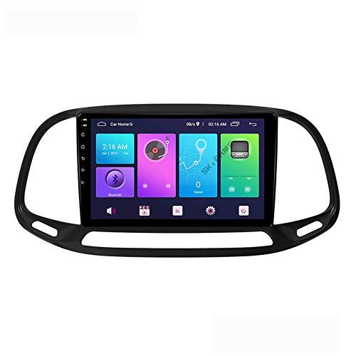 LYHY Android 9.0 Car Stereo 2 DIN Head Unit Compatible con FIAT EGEA Doblo 2015-2019 Navegación GPS Pantalla táctil de 9 Pulgadas Reproductor Multimedia MP5 Receptor de Video y Radio con 4G WiFi DSP