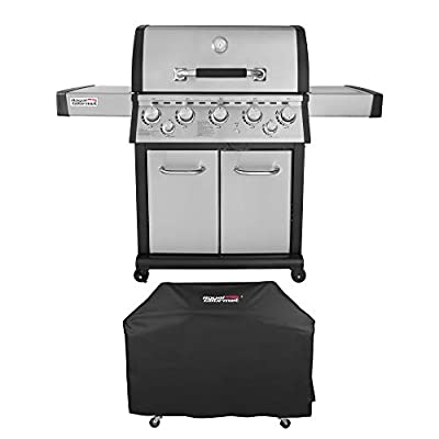 Royal Gourmet Mirage Stainless Steel 5-Burner Propane Gas Grill with Infrared Burner + Cover