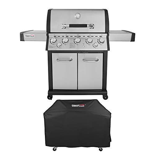 Royal Gourmet Mirage Stainless Steel 5-Burner Propane Gas Grill with Infrared Burner + Cover Grills Propane