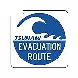 A/X 13 cm 12,7 cm para la Ruta de evacuación del Tsunami Pegatinas de Pared para Coche calcomanía para Parabrisas Snowboard Anime
