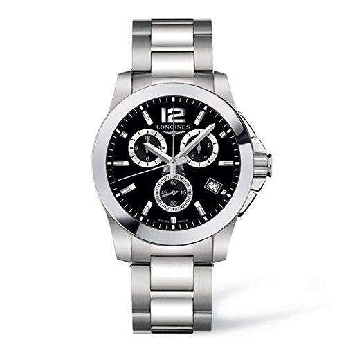 Longines Unisex Analog Uhr mit Edelstahl beschichtet Armband SNN259P1
