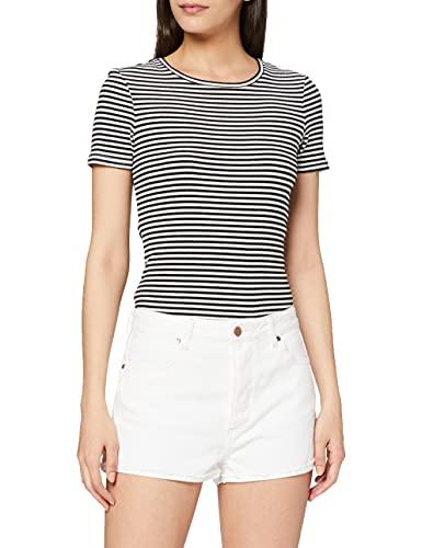 Wrangler The Short Pantalones cortos, Blanco (Vintage White X1y), EU para Mujer