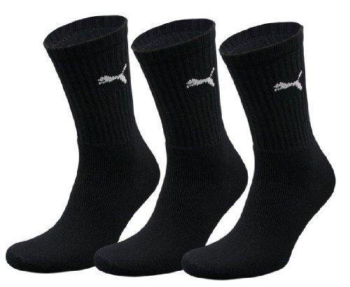 Puma 7312 - Calze sportive unisex, in diversi colori e in confezione risparmio (47/49 - 6 paia, Black 200)