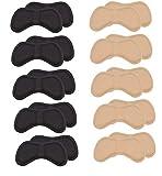 BTkviseQat Schwamm Fersenpolster | Fersenhalter | Heel Pads | Schuheinlagen | für mehr Komfort und einen besser passenden Schuh | (5 Schwarz und 5 Beige)