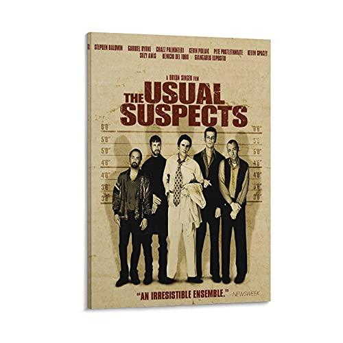 Póster de The Usual Suspects 5 Mystery Thriller - Lienzo decorativo para el hogar, 40 x 60 cm