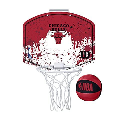 Wilson Mini Panier de Basket, NBA TEAM MINI HOOP, CHICAGO BULLS, plastique