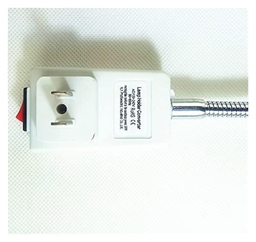 Zsheng EUR/OPEEO BRIT/ISH Am/Erica ARTH/Alia E/U U/K U/S A/U Enchufe A/U Enchufe a E27 Conversión Lámpara de luz LED Soporte de lámpara con Interruptor 20 cm