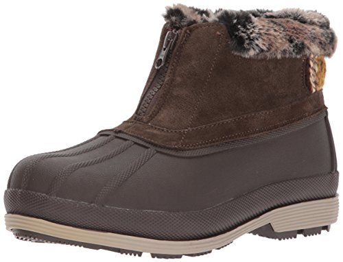PropÃt womens Lumi Ankle Zip Snow Boot, Brown, 9.5 US