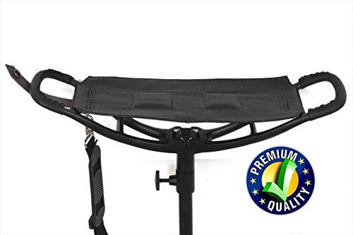 Neuf Noir cuir de qualité de prise de vue de bâton de chaise pliante