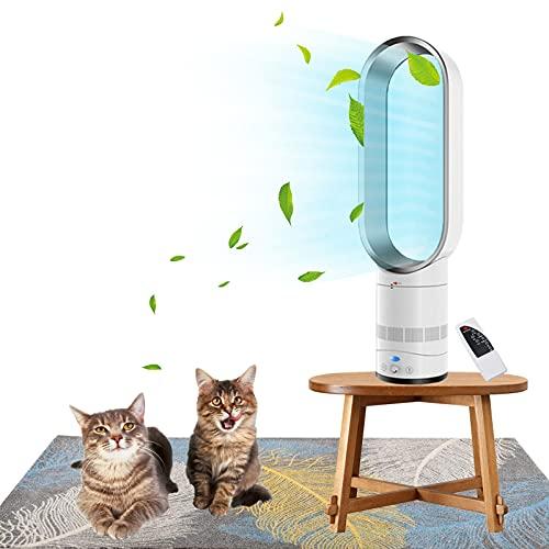 Ventilador Vertical sin aspas, Ventilador de Torre de enfriamiento, con Control Remoto, Regulación de Velocidad Continua, para Dormitorio, Cocina, Oficina