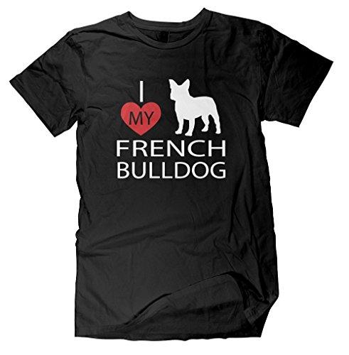 T-Shirt Woman I Love My French Bulldog Shirt Cotton Short Sleeve