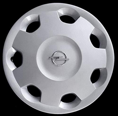 Generico Opel Corsa Radzierblende Quattro (4) 5905/4 Durchmesser 14 Zoll Chrom Logo