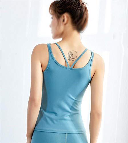 Nobrand Sportshirt voor dames, voor yoga, fitness, sneldrogend, effen kleur, voor hardlopen, fitness