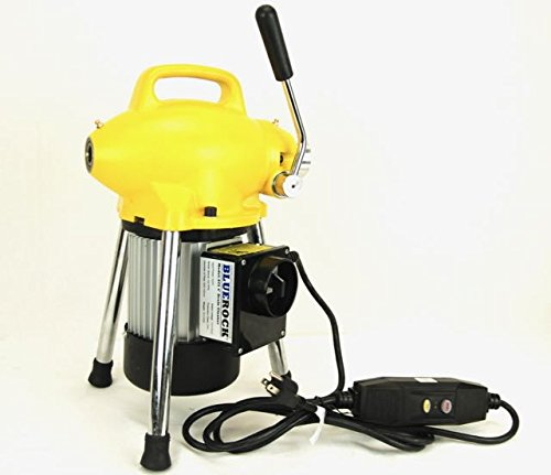"""BLUEROCK Tools Model S75 3/4"""" - 4"""" Sectional Pipe Drain Cleaning Machine Sn."""