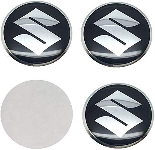 4 piezas 56mm con el Logotipo Wheel tapacubos Para Suzuki Samurai SJ4 13 Grand Vitara SX4 S Cross Swift Jimny GSR 600 ITZ 400, Central Cubierta de buje Prueba De Polvo Automóvil Accesorios