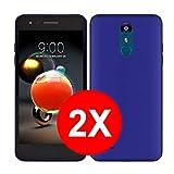 TBOC 2X Coque Gel TPU Bleu pour LG K8 (2018) - LG K9 (5.0 Pouces) [Pack: Deux Unités] en Silicone...