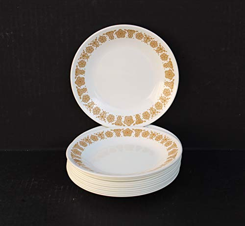 Set of 12 Corelle Butterfly Gold Bread and Butter Dessert Snack Plates 6-3/4'
