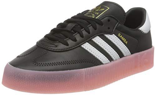 adidas SAMBAROSE W, Zapatillas Deportivas Mujer, Core Black FTWR White True Pink, 40 EU