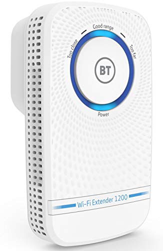 BT Wi-Fi Extender 1200 with 11ac 1200 Dual-Band Wi-Fi, White