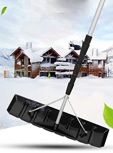 LXLH Rastrillo telescópico de Nieve para Techo de 20 pies, Herramienta para Quitar rastrillo para Nieve, Herramienta para Quitar Nieve para Techo, Evitar Que su Techo sufra daños, Herramienta par