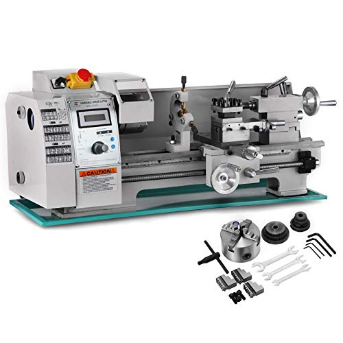 Best Prices! BestEquip 8x16 Inch Metal Lathe 2500RPM 750W Mini Bench Lathe Variable Spindle Speed La...