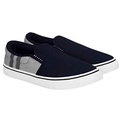 Zenwear Men's Canvas Blue Loafers (8 UK)