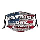 Bandera americana de Estados Unidos Patriot Day Patriótico Septiembre 11 911 Filtro reutilizable lavable al polvo y reutilizable boca caliente a prueba de viento algodón cara