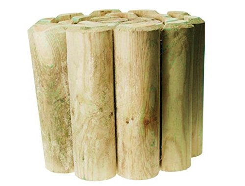 Log Edging Roll (180 x 15cm) - Suitable For Edging Flower Beds, Lawns And Paths