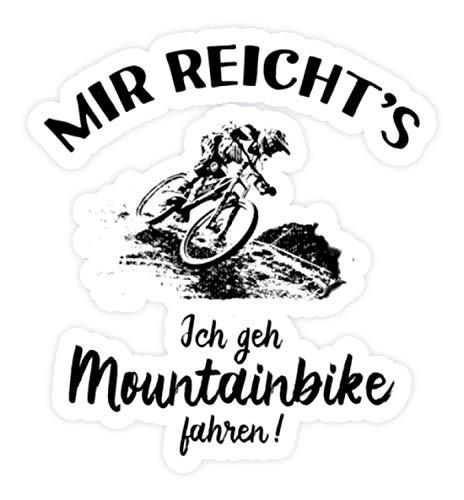shirt-o-magic Aufkleber Mountainbiker: Ich geh Mountainbike fahren! - Sticker - 5x5cm - Weiß