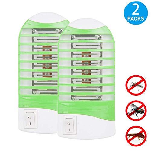 Electronic Bug Zapper LED muggenval en insectenverdelger, verwijdert vliegen van fruitvliegjes en vliegen, 2 stuks, groen