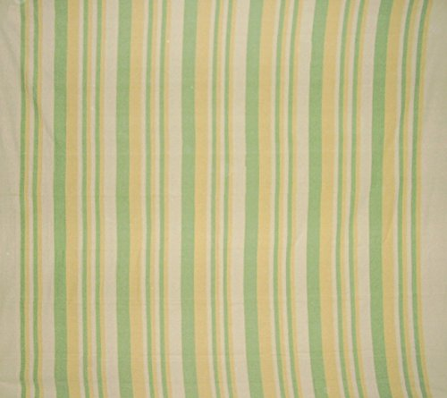 Homestead Heavy Cotton Ribbed Bedspread 98' x 88' Full Green & Yellow on Beige