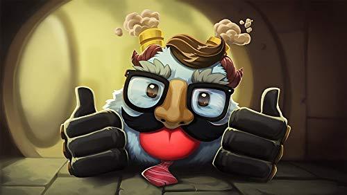 Póster de League Of Legends Poro Blitzcrank 30,5 x 45,7 cm, multicolor
