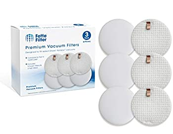 Fette Filter - Vacuum Filter Compatible with Shark Rotator Slim-Light Lift-Away NV341 & NV341Q Compare to Part # 1229FC340  3 Foam & 3 Felt Filters